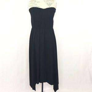 Torrid Smocked Handkerchief Tube Dress Black Sz 3